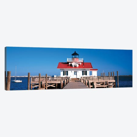 Roanoke Marshes Lighthouse, Outer Banks, Manteo, Dare County, North Carolina, USA Canvas Print #PIM14182} by Panoramic Images Canvas Artwork