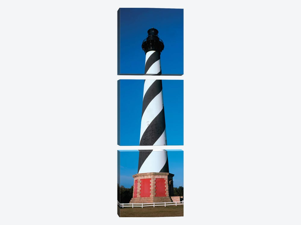Cape Hatteras Lighthouse, Hatteras Island, Outer Banks, Buxton, Dare County, North Carolina, USA by Panoramic Images 3-piece Canvas Art