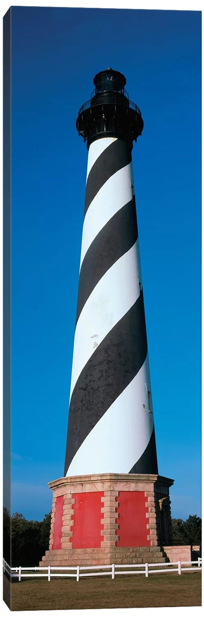 Cape Hatteras Lighthouse, Hatteras Island, Outer Banks, Buxton, Dare County, North Carolina, USA Canvas Art Print
