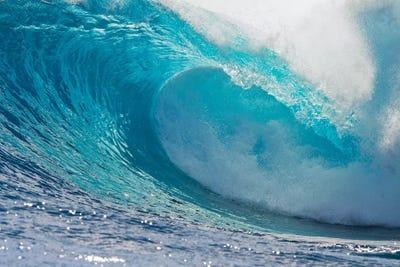 Plunging Waves II, Sout Pacific Ocean, Tahiti, French ... Pacific Ocean Waves