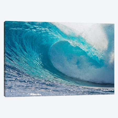 Plunging Waves II, Sout Pacific Ocean, Tahiti, French Polynesia Canvas Print #PIM14185} by Panoramic Images Canvas Print