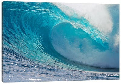Plunging Waves II, Sout Pacific Ocean, Tahiti, French Polynesia Canvas Art Print