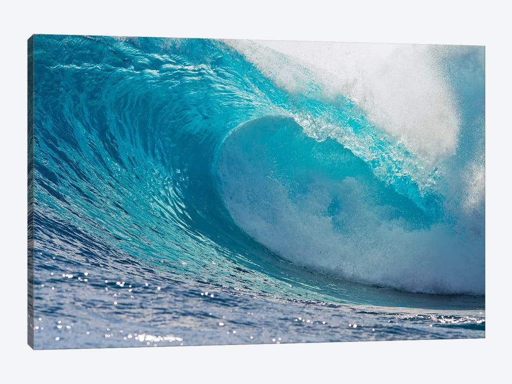 Plunging Waves II, Sout Pacific Ocean, Tahiti, French Polynesia by Panoramic Images 1-piece Canvas Wall Art