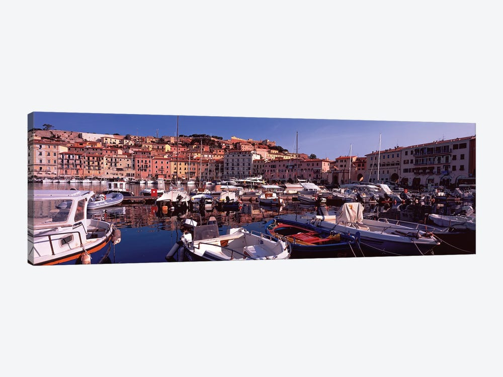 Docked Boats I, The Harbor Of Portoferraio, Island of Elba, Livorno Province, Tuscany, Italy by Panoramic Images 1-piece Canvas Print