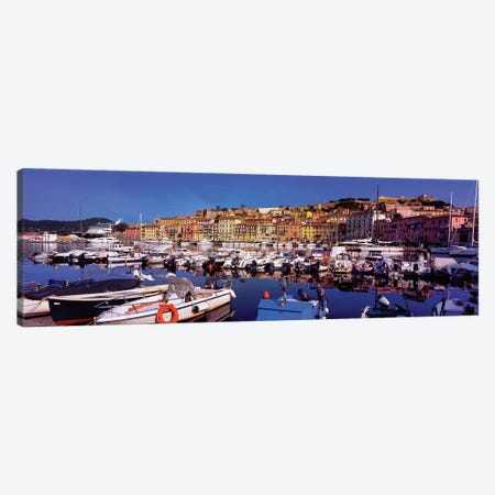 Docked Boats II, The Harbor Of Portoferraio, Island of Elba, Livorno Province, Tuscany Region, Italy Canvas Print #PIM14189} by Panoramic Images Canvas Art