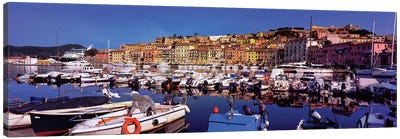 Docked Boats II, The Harbor Of Portoferraio, Island of Elba, Livorno Province, Tuscany Region, Italy Canvas Art Print