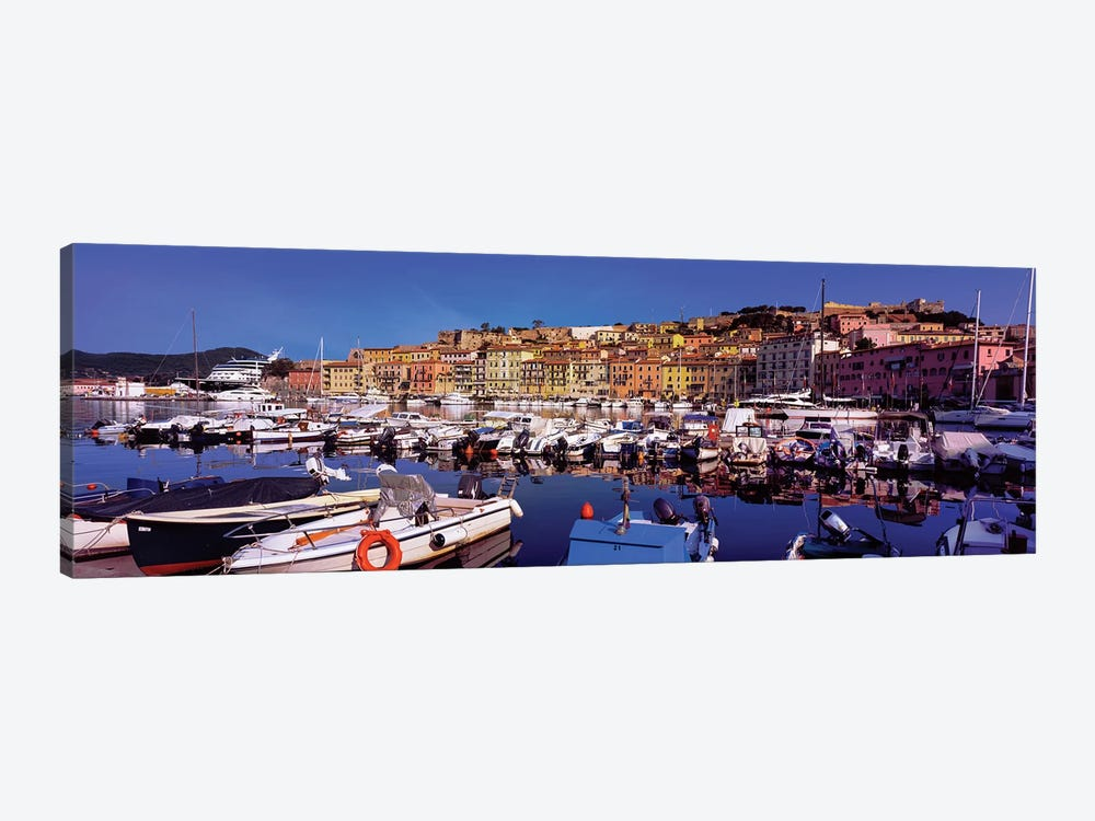 Docked Boats II, The Harbor Of Portoferraio, Island of Elba, Livorno Province, Tuscany Region, Italy by Panoramic Images 1-piece Canvas Wall Art