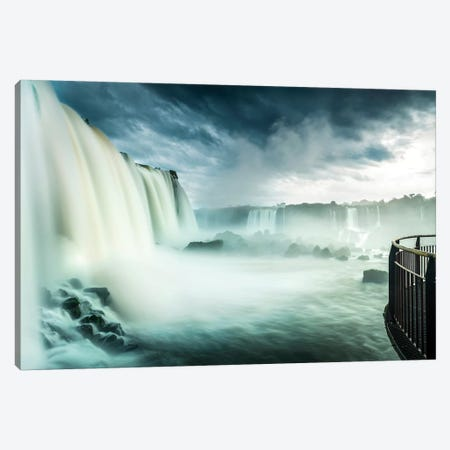 Iguazu Falls, Iguazú National Park (Argentina) and Iguaçu National Park (Brazil), South America Canvas Print #PIM14190} by Panoramic Images Art Print