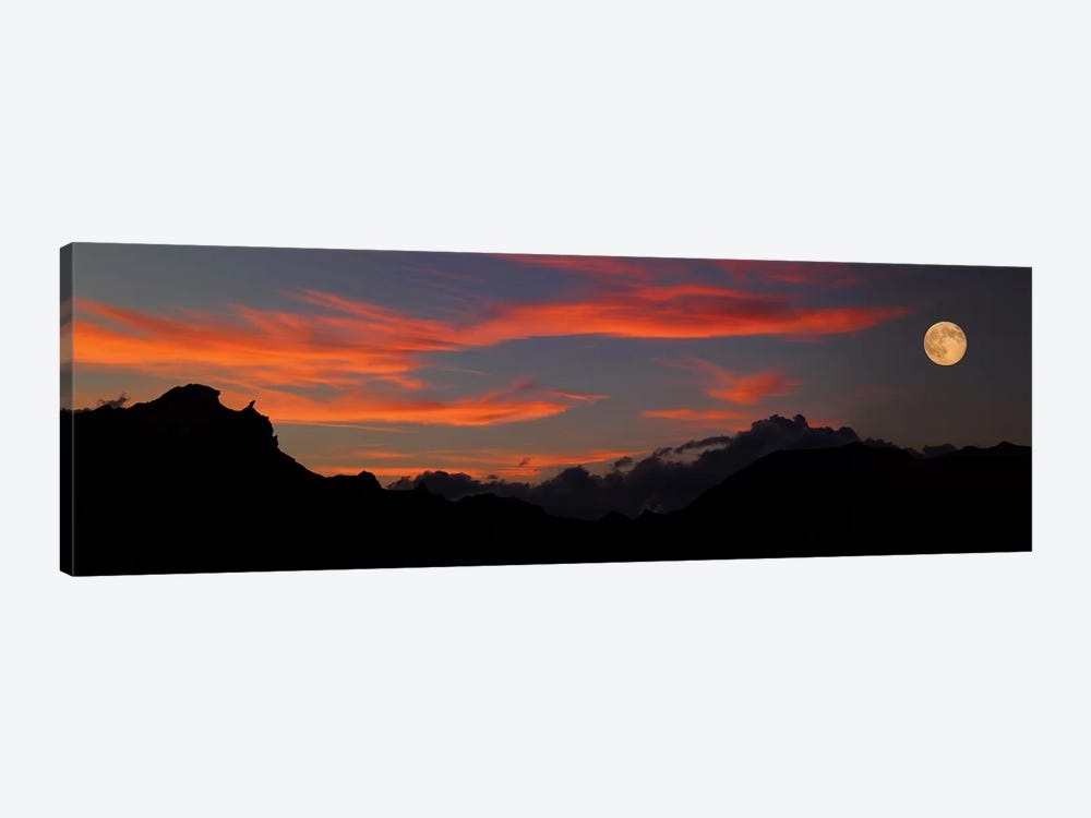 Rising Super Moon, Badlands National Park, South Dakota, USA by Panoramic Images 1-piece Art Print