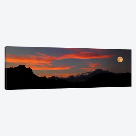 Rising Super Moon, Badlands National Park, South Dakota, USA Canvas Print #PIM14193} by Panoramic Images Canvas Print