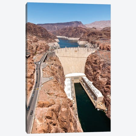 Hoover Dam, Black Canyon, Colorado River, Nevada, USA Canvas Print #PIM14196} by Panoramic Images Canvas Wall Art