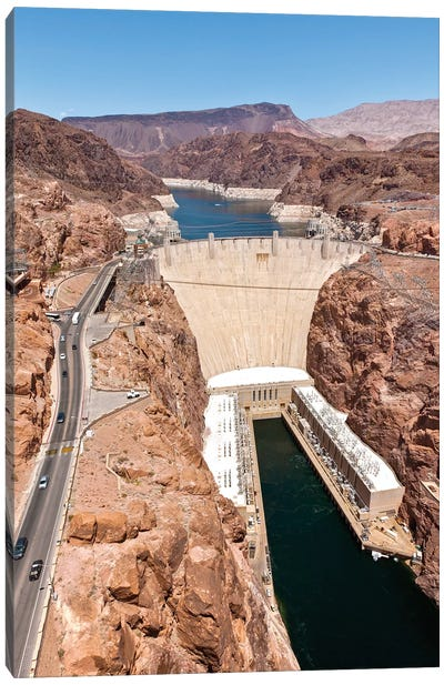 Hoover Dam, Black Canyon, Colorado River, Nevada, USA Canvas Art Print