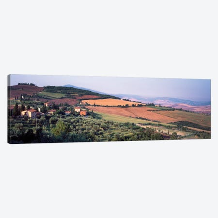 Countryside Landscape, Monticchiello Subdivision, Pienza, Siena Province, Tuscany Region, Italy Canvas Print #PIM14198} by Panoramic Images Canvas Art Print