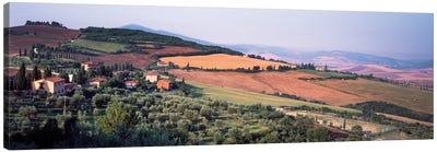 Countryside Landscape, Monticchiello Subdivision, Pienza, Siena Province, Tuscany Region, Italy Canvas Print #PIM14198