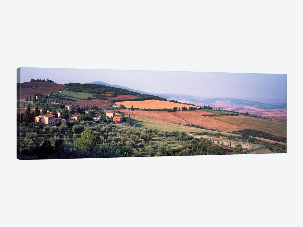 Countryside Landscape, Monticchiello Subdivision, Pienza, Siena Province, Tuscany Region, Italy by Panoramic Images 1-piece Canvas Art