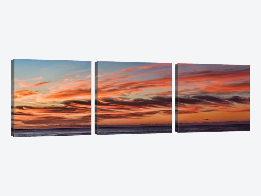 Cloudy Sky At Sunset, Cabo San Lucas, Baja California Sur, Mexico by Panoramic Images 3-piece Canvas Art Print