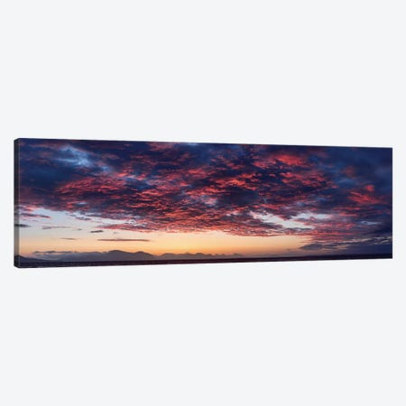 Dramatic Sky At Sunset, Alaska, USA Canvas Print #PIM14206} by Panoramic Images Canvas Wall Art