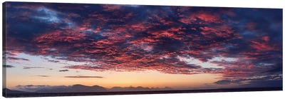 Dramatic Sky At Sunset, Alaska, USA Canvas Art Print
