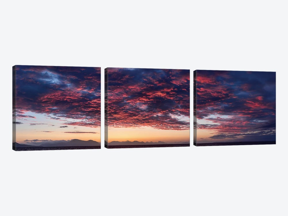 Dramatic Sky At Sunset, Alaska, USA by Panoramic Images 3-piece Canvas Art Print