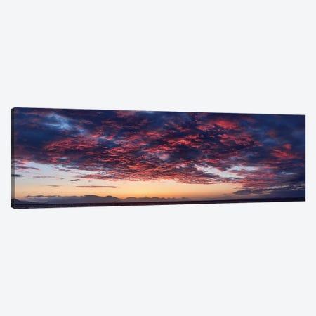 Dramatic Sky At Sunset, Alaska, USA Canvas Print #PIM14206} by Panoramic Images Canvas Wall Art