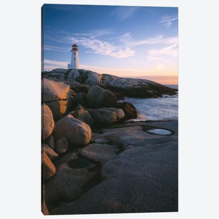 Peggys Point Lighthouse, Peggys Cove, Halifax Region, Nova Scotia, Canada Canvas Print #PIM14208} by Panoramic Images Canvas Art Print