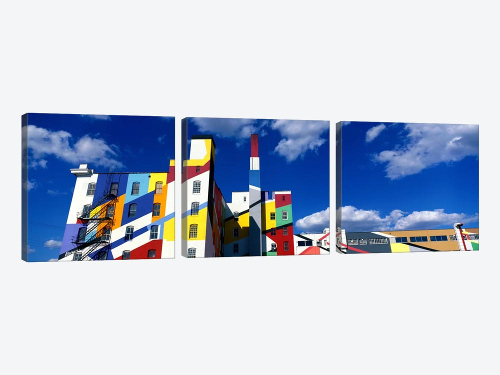 Building With Geometric Decorations, Minneapolis, Minnesota, USA by Panoramic Images 3-piece Canvas Print