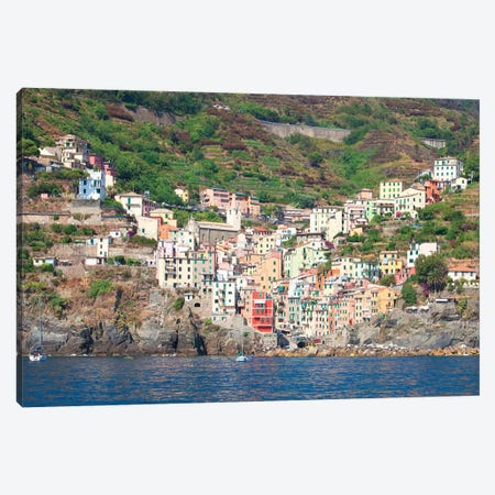 Riomaggiore I (One Of the Cinque Terre), La Spezia Province, Liguria Region, Italy Canvas Print #PIM14210} by Panoramic Images Canvas Art