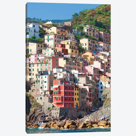 Riomaggiore II (One Of the Cinque Terre), La Spezia Province, Liguria Region, Italy Canvas Print #PIM14211} by Panoramic Images Canvas Art