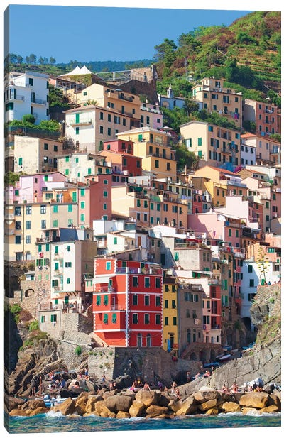 Riomaggiore II (One Of the Cinque Terre), La Spezia Province, Liguria Region, Italy Canvas Print #PIM14211