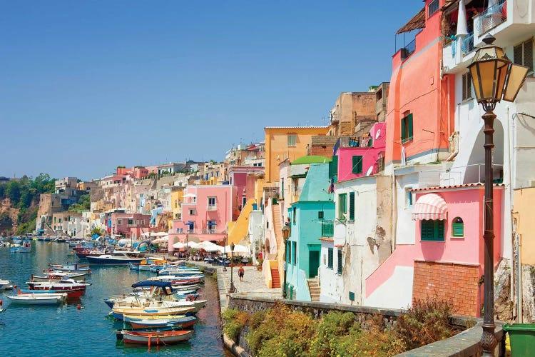 Marina Corricella I Procida Island Gulf Of Naples Campania Icanvas