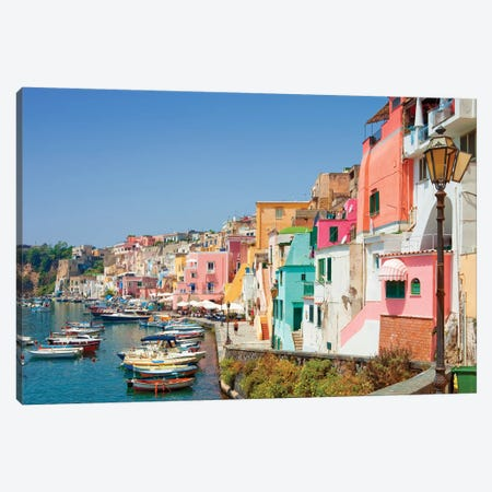 Marina Corricella I, Procida Island, Gulf of Naples, Campania Region, Italy Canvas Print #PIM14212} by Panoramic Images Canvas Wall Art
