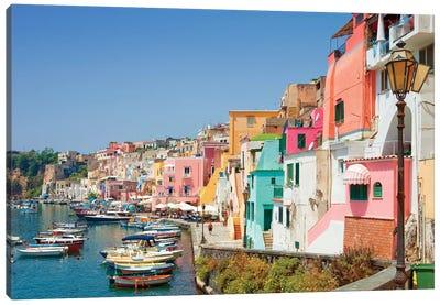 Marina Corricella I, Procida Island, Gulf of Naples, Campania Region, Italy Canvas Art Print