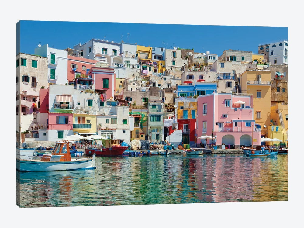 Marina Corricella II, Procida Island, Gulf of Naples, Campania Region, Italy by Panoramic Images 1-piece Canvas Art Print