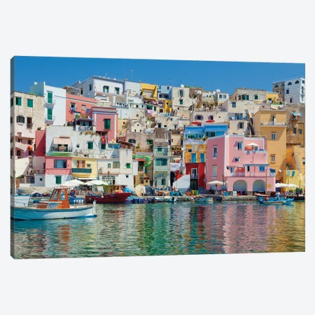 Marina Corricella II, Procida Island, Gulf of Naples, Campania Region, Italy Canvas Print #PIM14213} by Panoramic Images Canvas Art