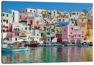 Marina Corricella II, Procida Island, Gulf of Naples, Campania Region, Italy Canvas Art Print