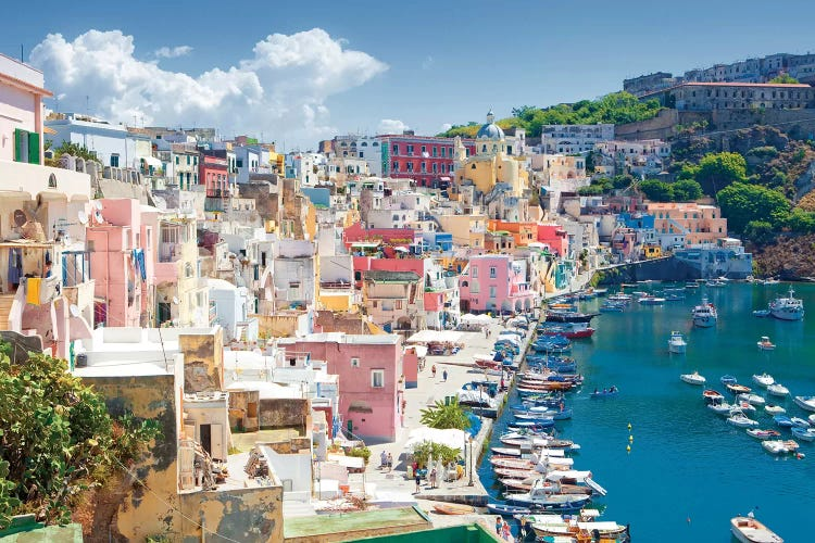 Marina Corricella Iii Procida Island Gulf Of Naples Campani Icanvas