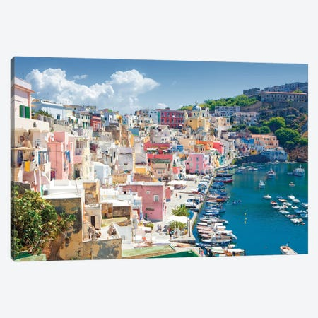 Marina Corricella III, Procida Island, Gulf of Naples, Campania Region, Italy Canvas Print #PIM14214} by Panoramic Images Canvas Art Print