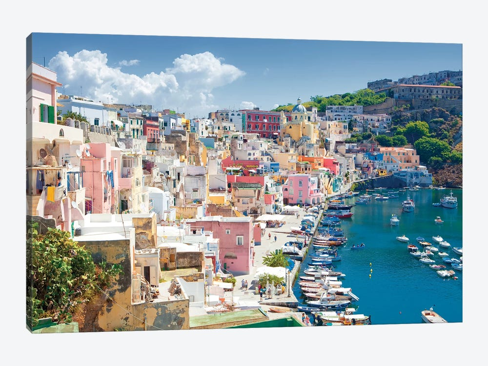 Marina Corricella III, Procida Island, Gulf of Naples, Campania Region, Italy by Panoramic Images 1-piece Canvas Art