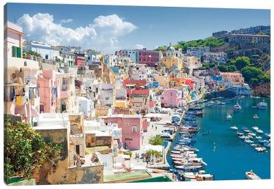 Marina Corricella III, Procida Island, Gulf of Naples, Campania Region, Italy Canvas Art Print