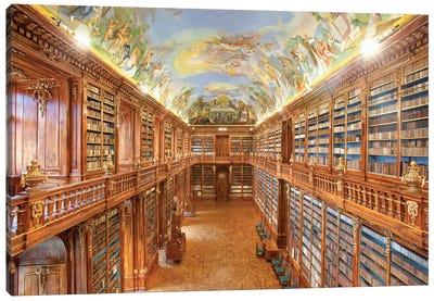 The Philosophical Hall, Library, Strahov Monastery, Prague, Czech Republic Canvas Print #PIM14217