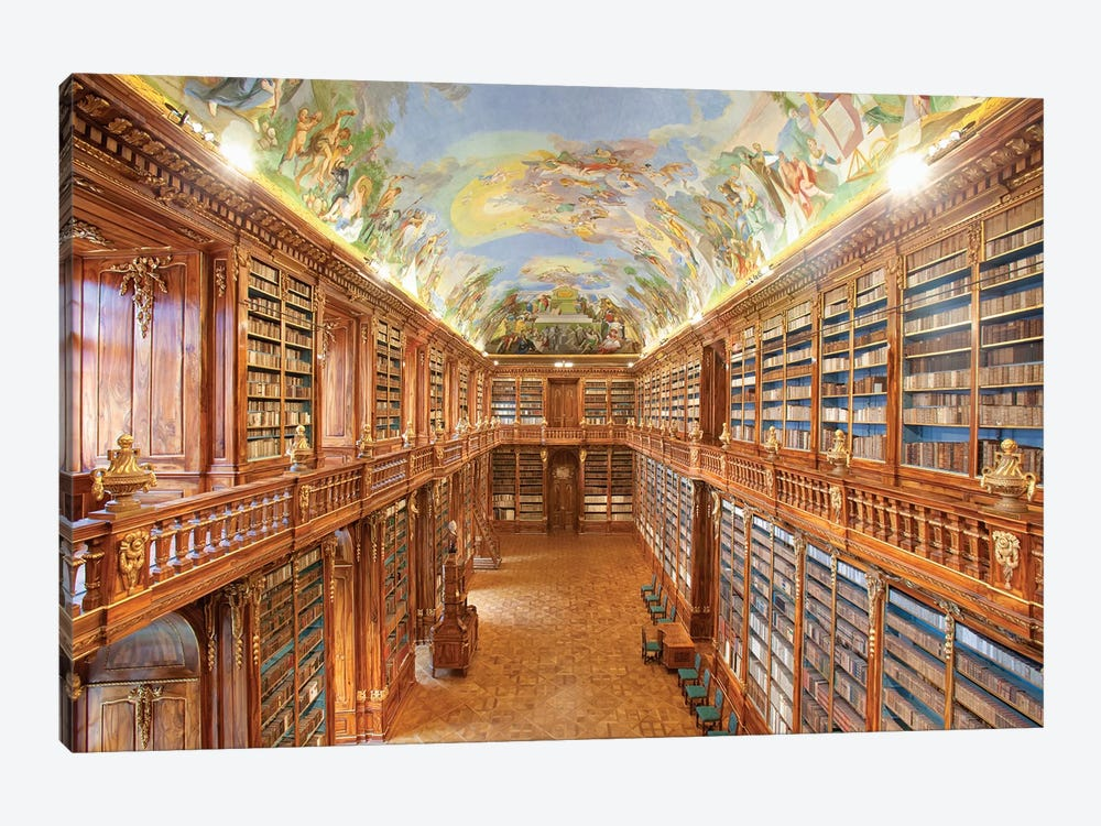The Philosophical Hall, Library, Strahov Monastery, Prague, Czech Republic by Panoramic Images 1-piece Canvas Art Print