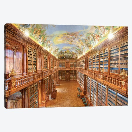The Philosophical Hall, Library, Strahov Monastery, Prague, Czech Republic Canvas Print #PIM14217} by Panoramic Images Canvas Print