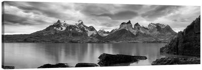 Cerro Paine Grande and Cuernos del Paine As Seen From Lake Pehoe, Torres del Paine National Park, Magallanes Region, Chile Canvas Art Print