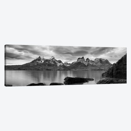 Cerro Paine Grande and Cuernos del Paine As Seen From Lake Pehoe, Torres del Paine National Park, Magallanes Region, Chile Canvas Print #PIM14223} by Panoramic Images Canvas Print