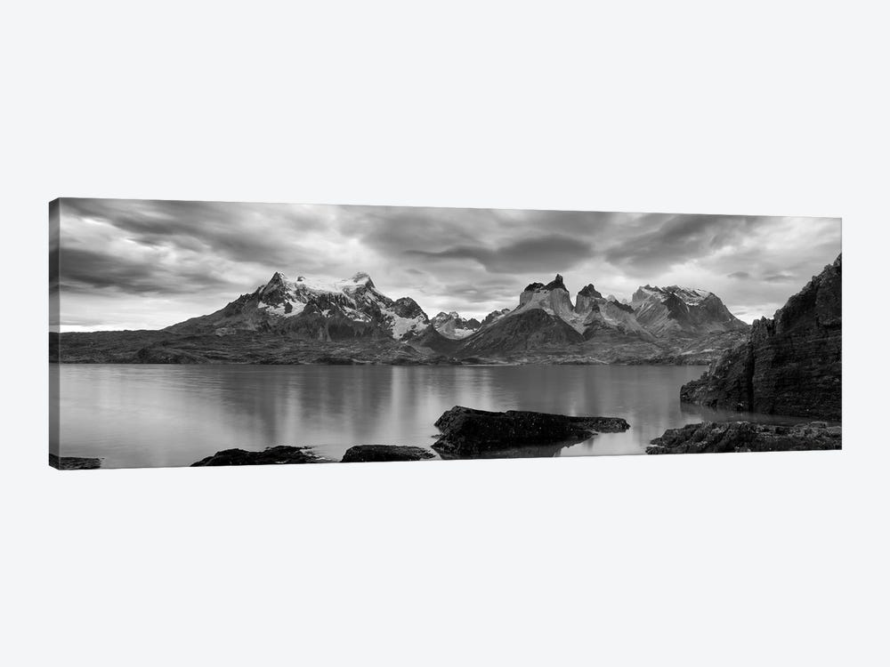 Cerro Paine Grande and Cuernos del Paine As Seen From Lake Pehoe, Torres del Paine National Park, Magallanes Region, Chile by Panoramic Images 1-piece Canvas Artwork