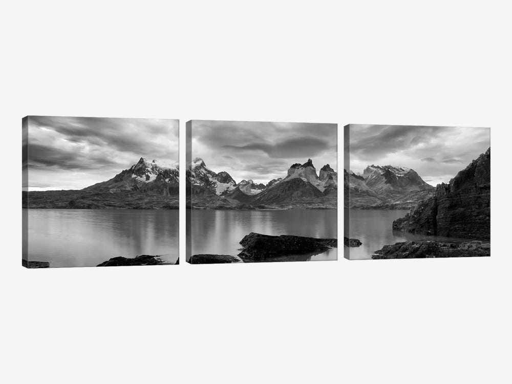 Cerro Paine Grande and Cuernos del Paine As Seen From Lake Pehoe, Torres del Paine National Park, Magallanes Region, Chile by Panoramic Images 3-piece Canvas Art
