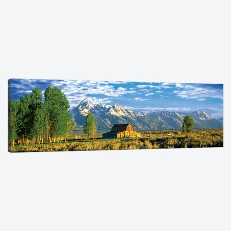 John Moulton Barn I, Mormon Row Historic District, Grand Teton National Park, Jackson Hole Valley, Teton County, Wyoming, USA Canvas Print #PIM14228} by Panoramic Images Canvas Art Print