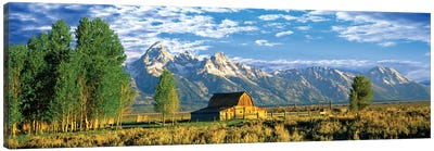 John Moulton Barn I, Mormon Row Historic District, Grand Teton National Park, Jackson Hole Valley, Teton County, Wyoming, USA Canvas Art Print