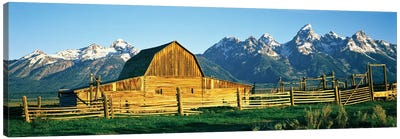 John Moulton Barn II, Mormon Row Historic District, Grand Teton National Park, Jackson Hole Valley, Teton County, Wyoming, USA Canvas Art Print