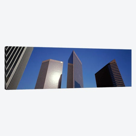Low Angle View Of Downtown Office District, Los Angeles, California, USA #2 3-Piece Canvas #PIM1422} by Panoramic Images Canvas Art Print